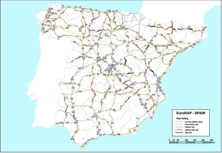 EuroRAP Spanish Risk Mapping results find Galicia and Catalonia