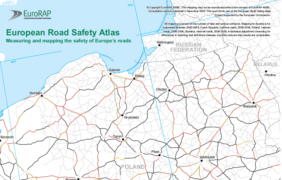 EuroRAP Measuring and mapping the safety of Europes roads Polish