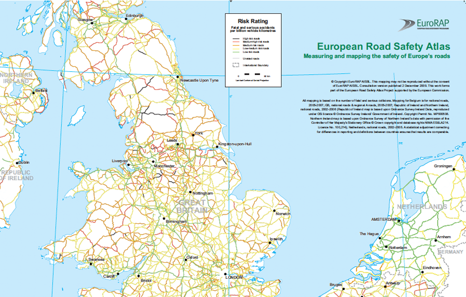 Eurorap Measuring And Mapping The Safety Of Europe S Roads